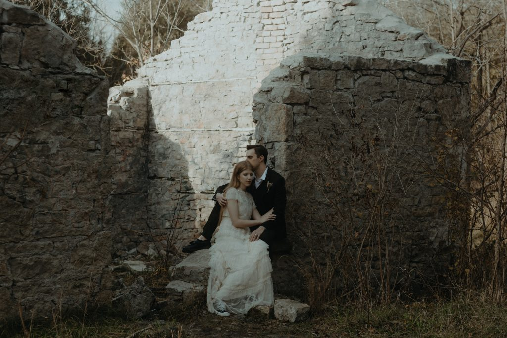 Forest Elopement Outside of Toronto in Rockwood