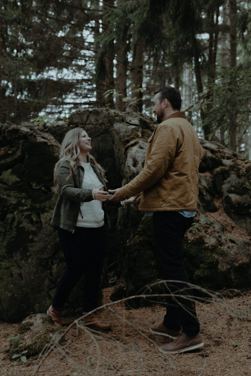 Couples Photos In Forest Are Romantic in Guelph